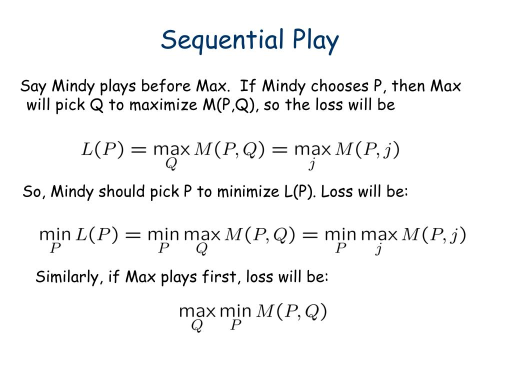 Sequential Play