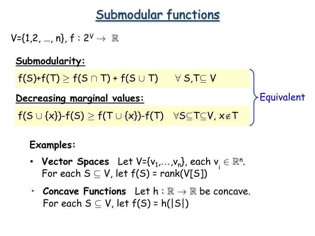 Submodular