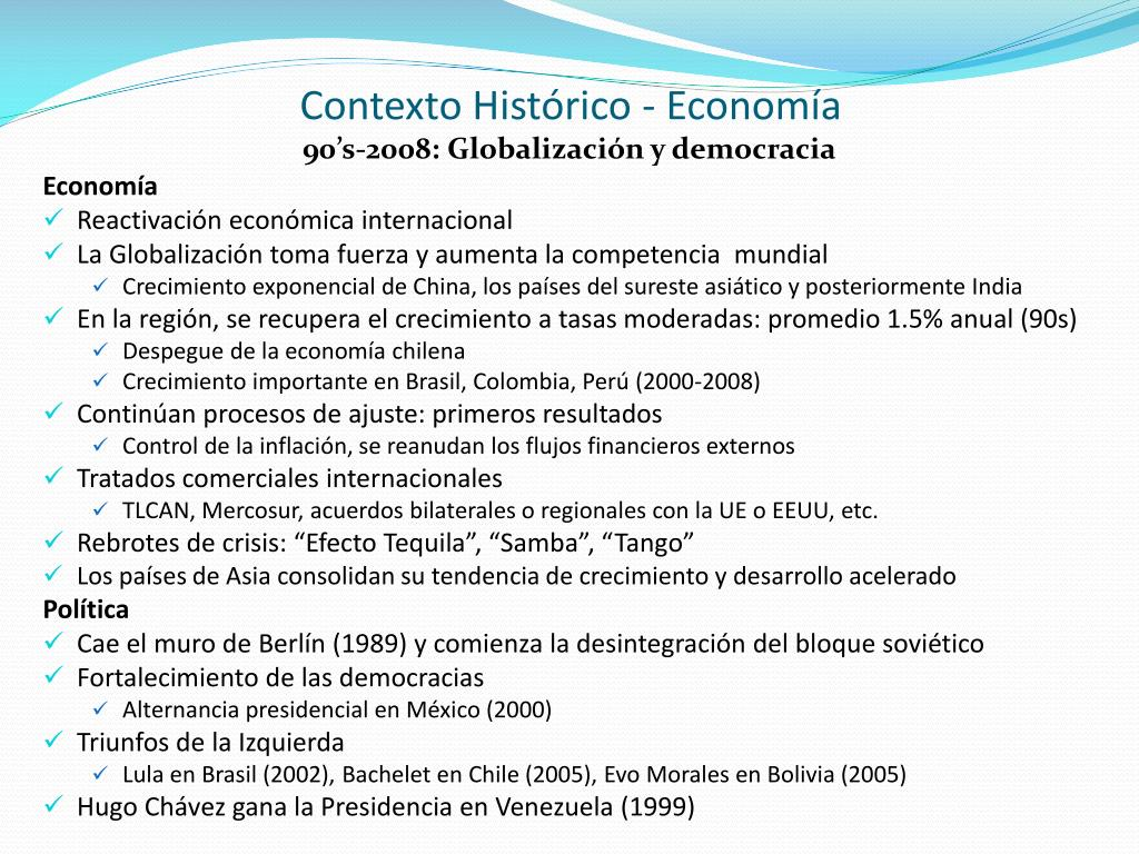 Contexto Histórico - Economía