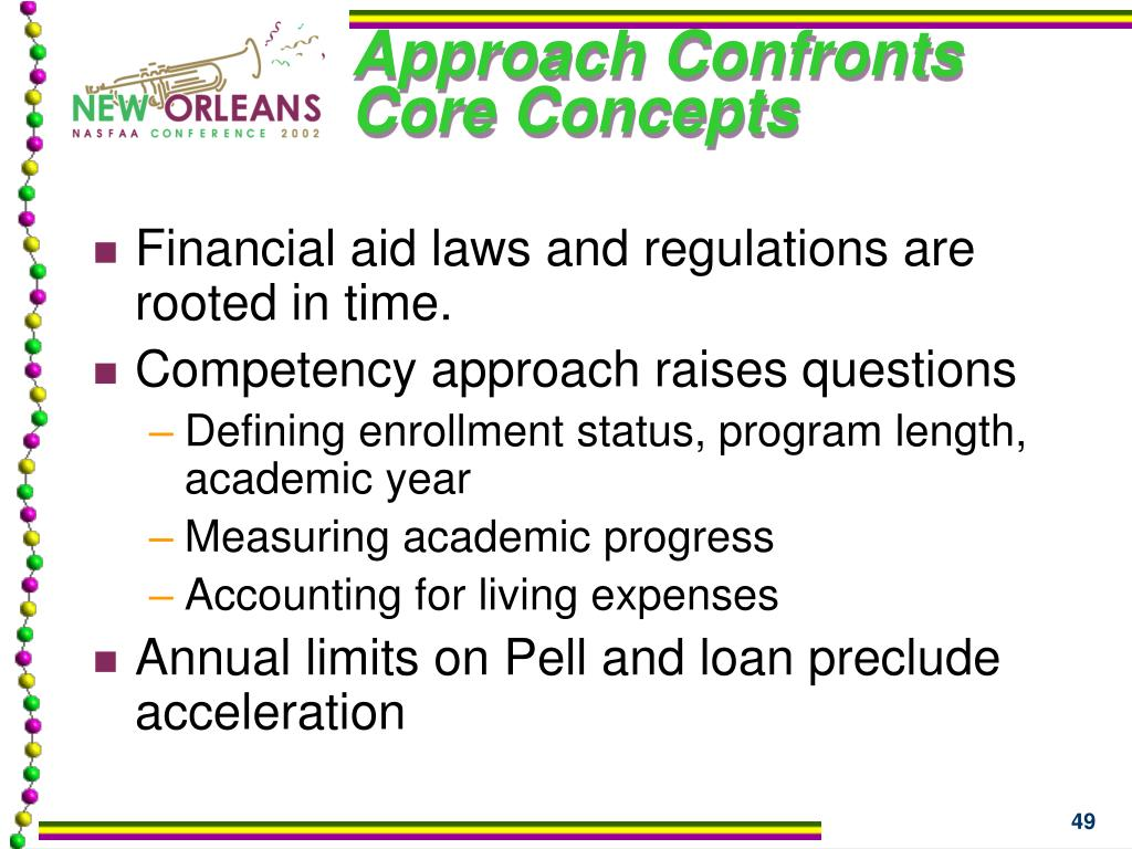 Approach Confronts Core Concepts