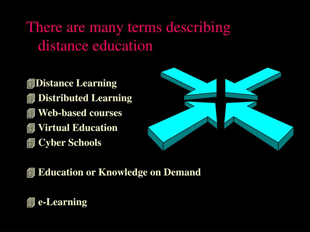 There are many terms describing distance education