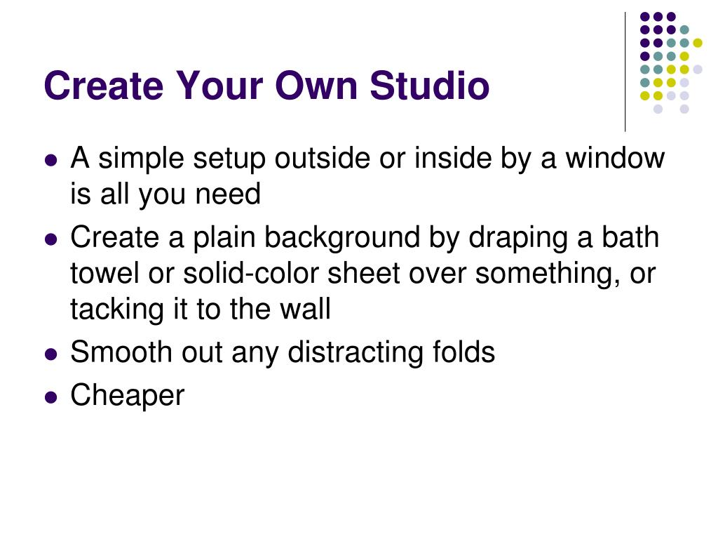 Create Your Own Studio