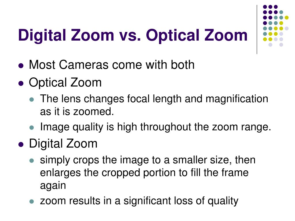 Digital Zoom vs. Optical Zoom