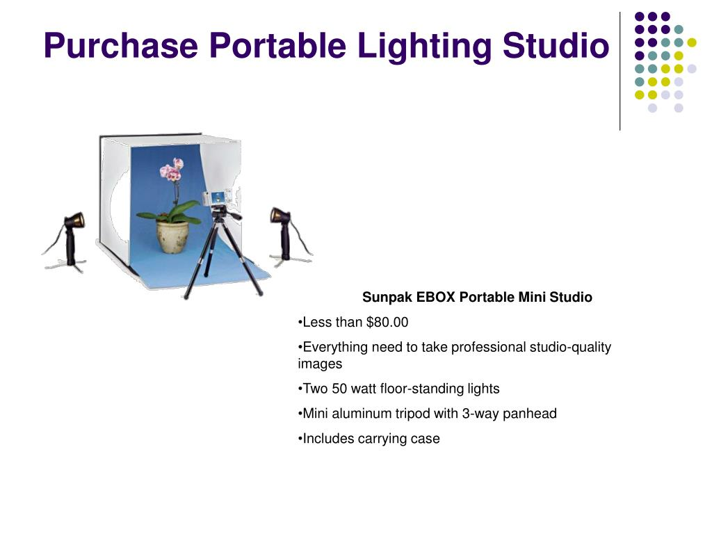 Purchase Portable Lighting Studio