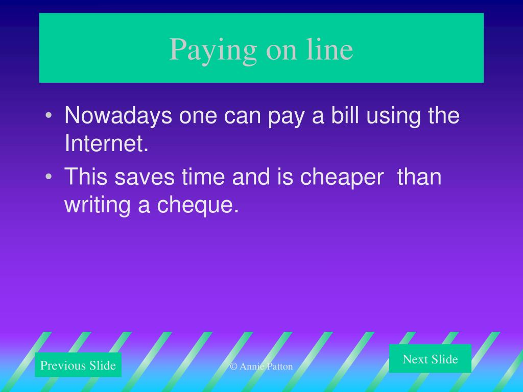 Paying on line