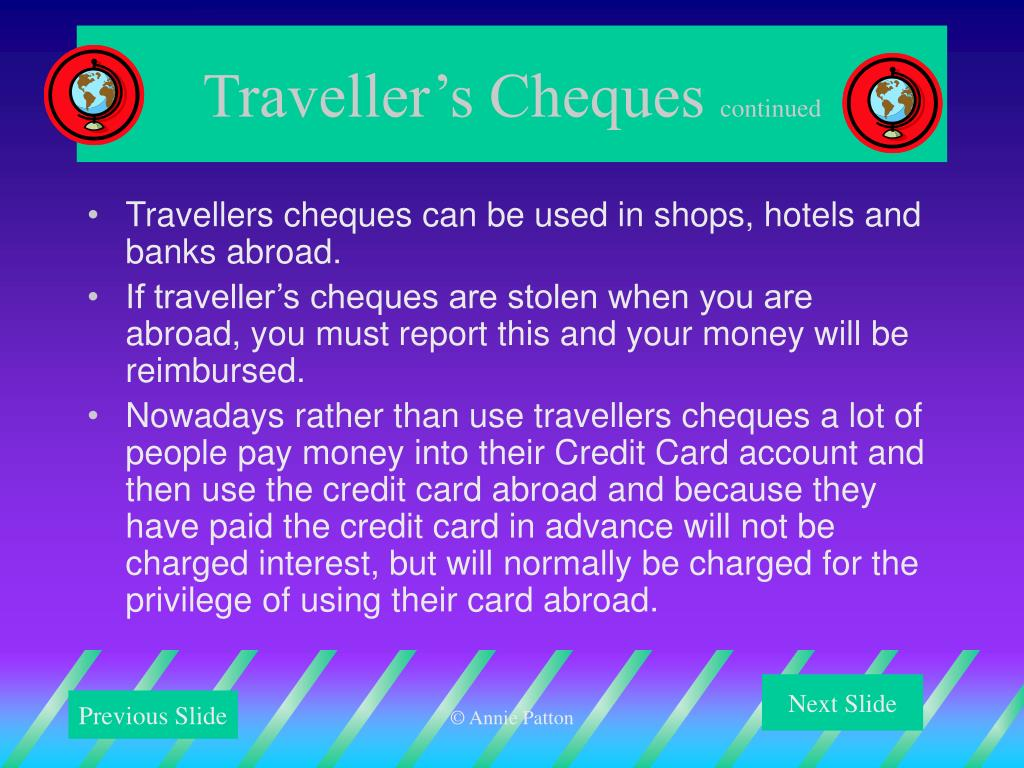 Traveller's Cheques