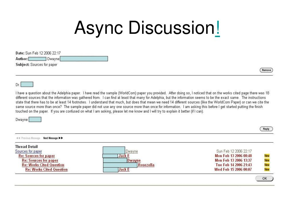 Async Discussion