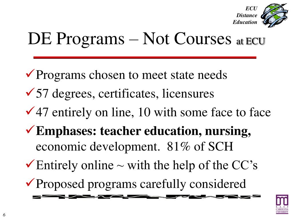 DE Programs – Not Courses