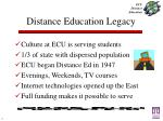 distance education legacy