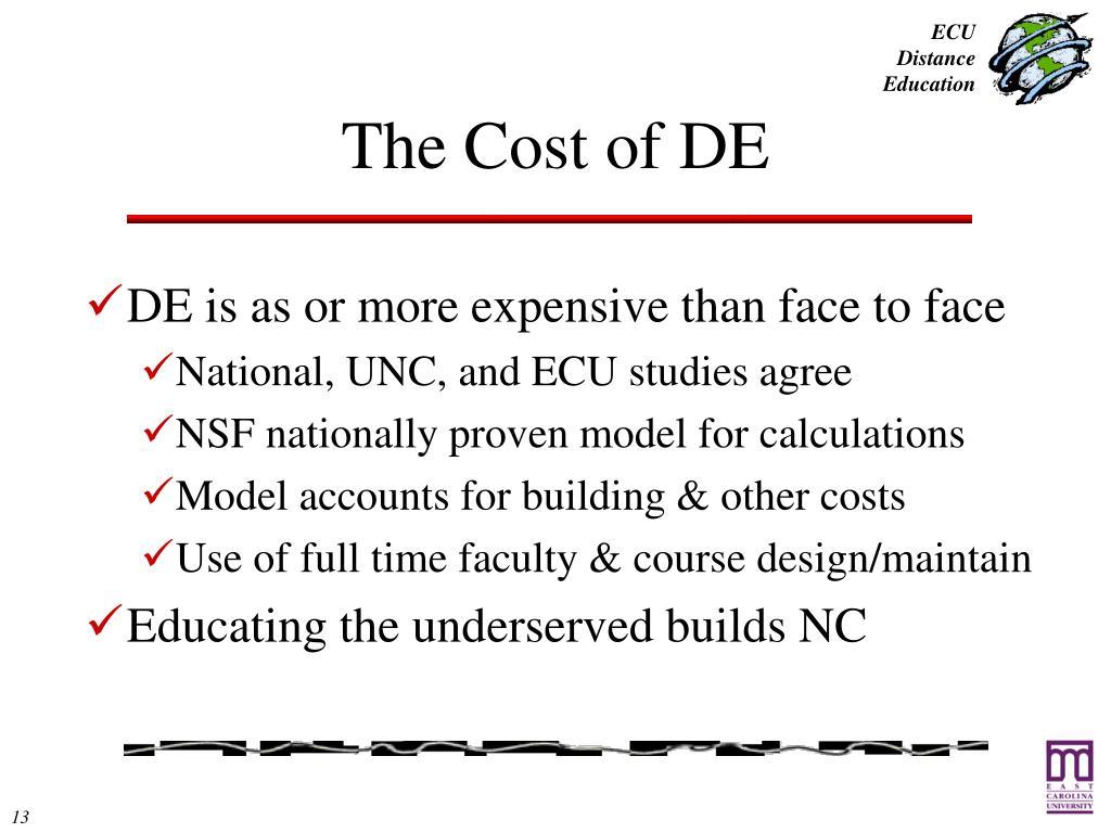 The Cost of DE