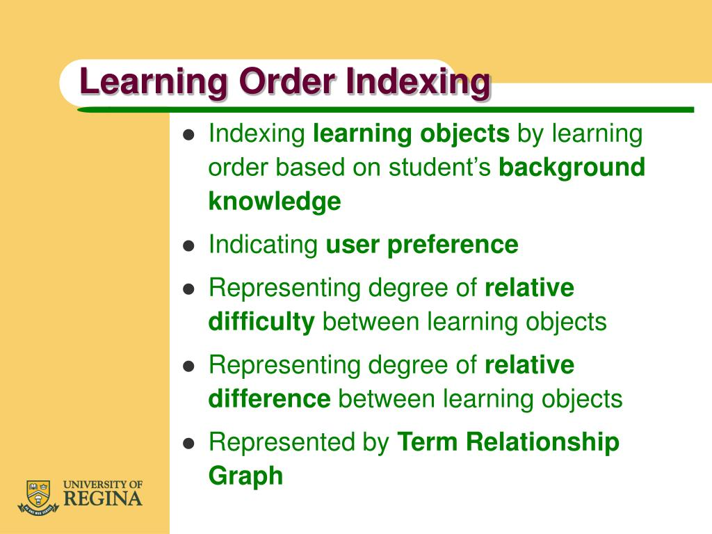 Learning Order Indexing