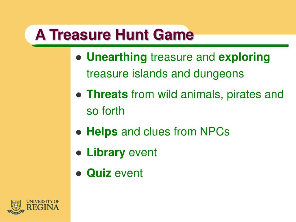 A Treasure Hunt Game