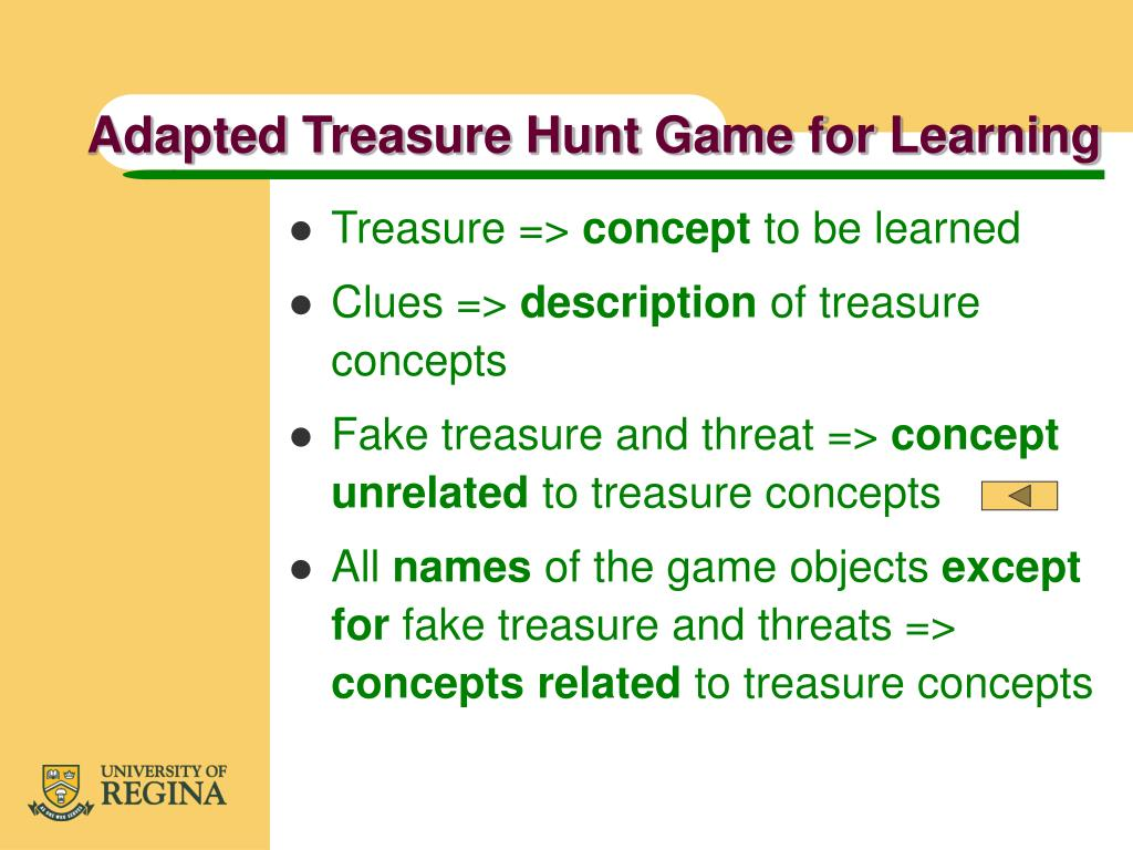 Adapted Treasure Hunt Game for Learning