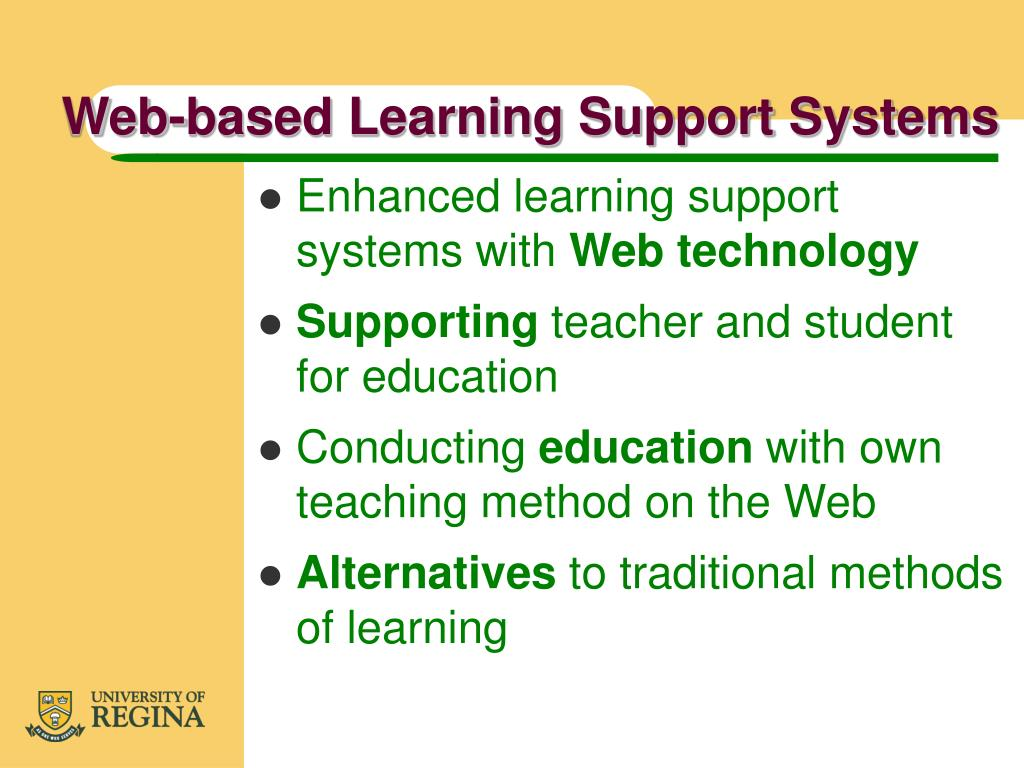 Web-based Learning Support Systems