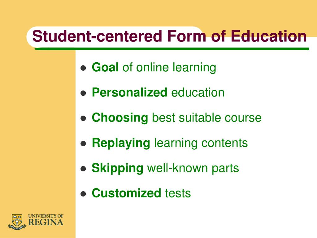 Student-centered Form of Education