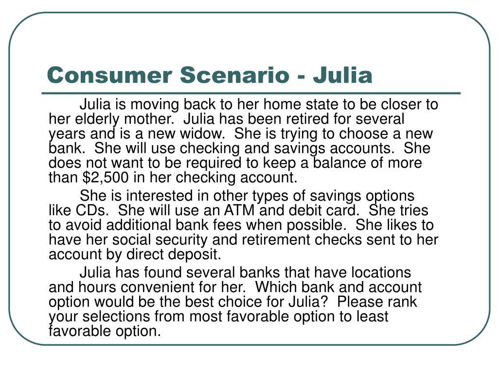 Consumer Scenario - Julia