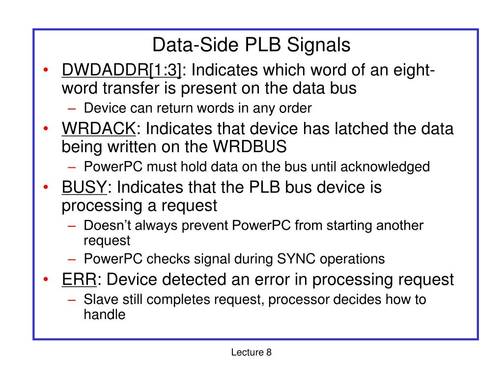 Data-Side PLB Signals