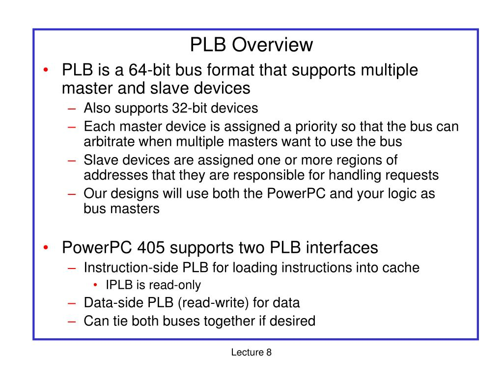 PLB Overview