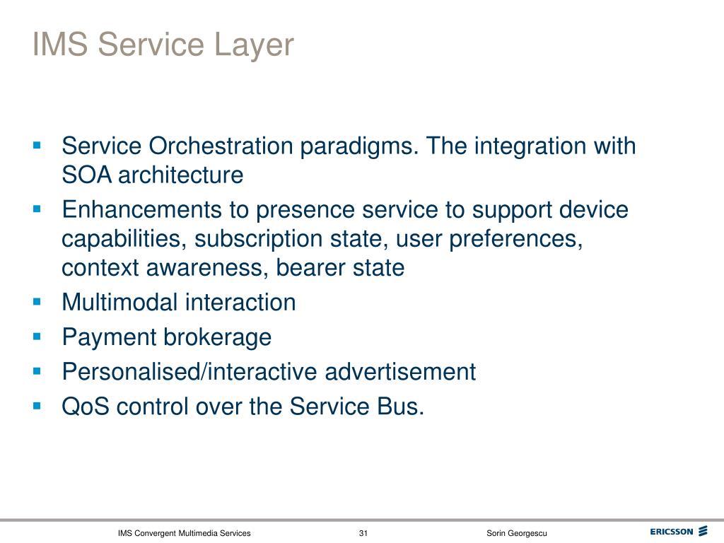 IMS Service Layer