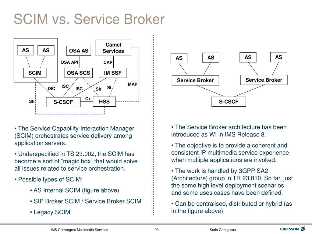 SCIM vs. Service Broker