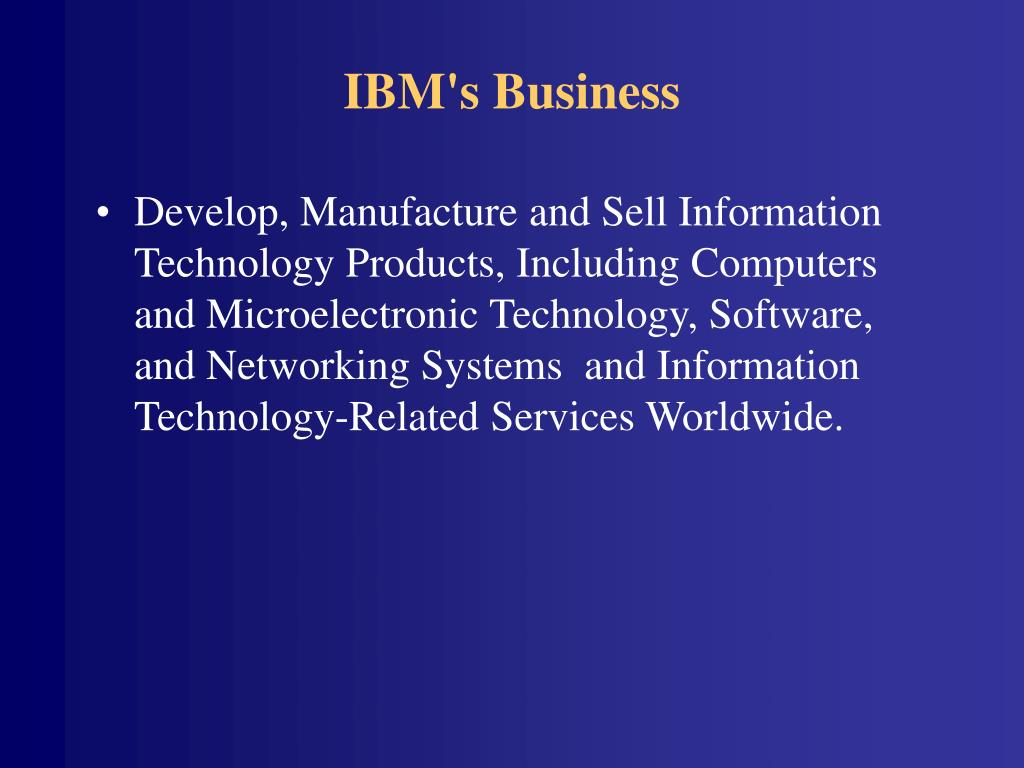 IBM's Business