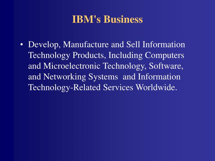 Ibm s business