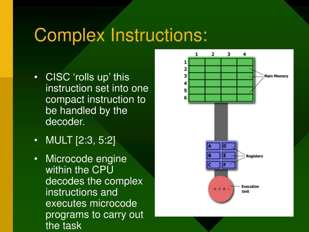 Complex Instructions: