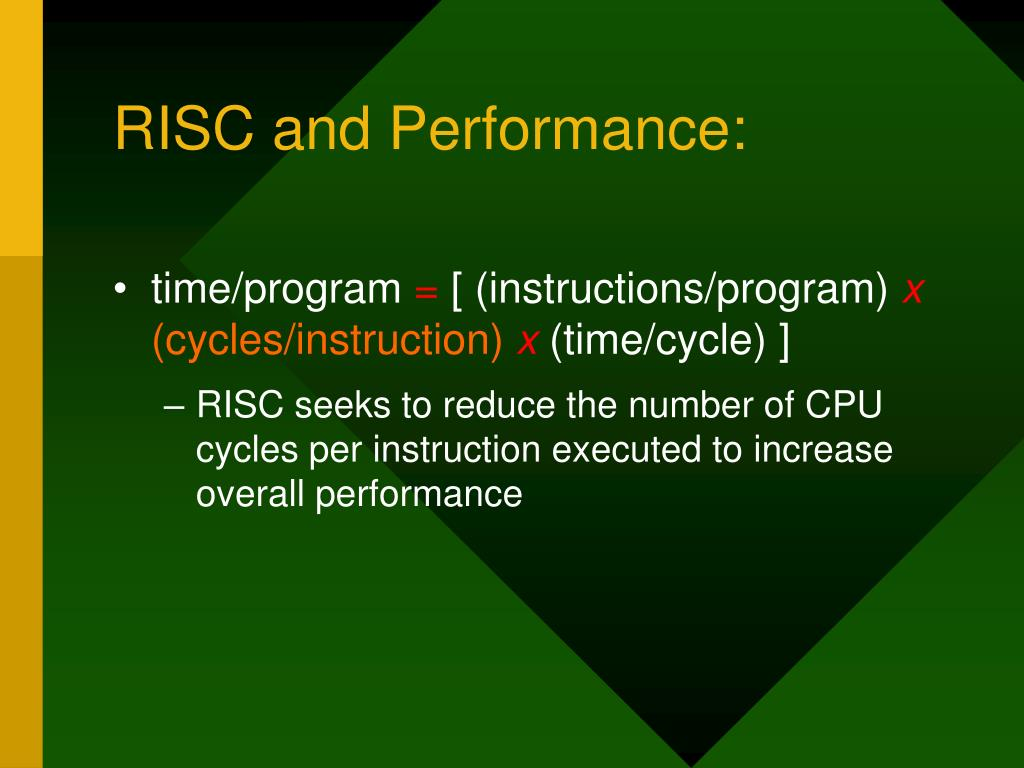 RISC and Performance: