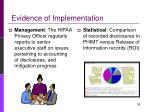 evidence of implementation37