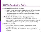 hipaa application suite