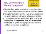 how do we know if we are compliant10
