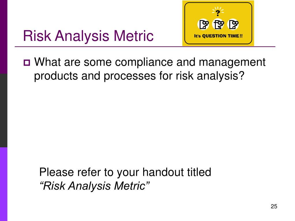 Risk Analysis Metric