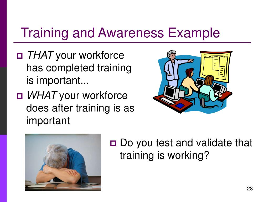 Training and Awareness Example