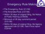 emergency rule making