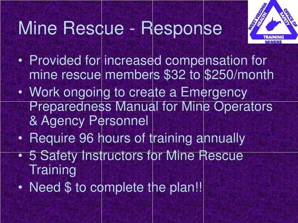 Mine Rescue - Response
