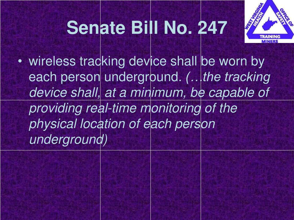 Senate Bill No. 247