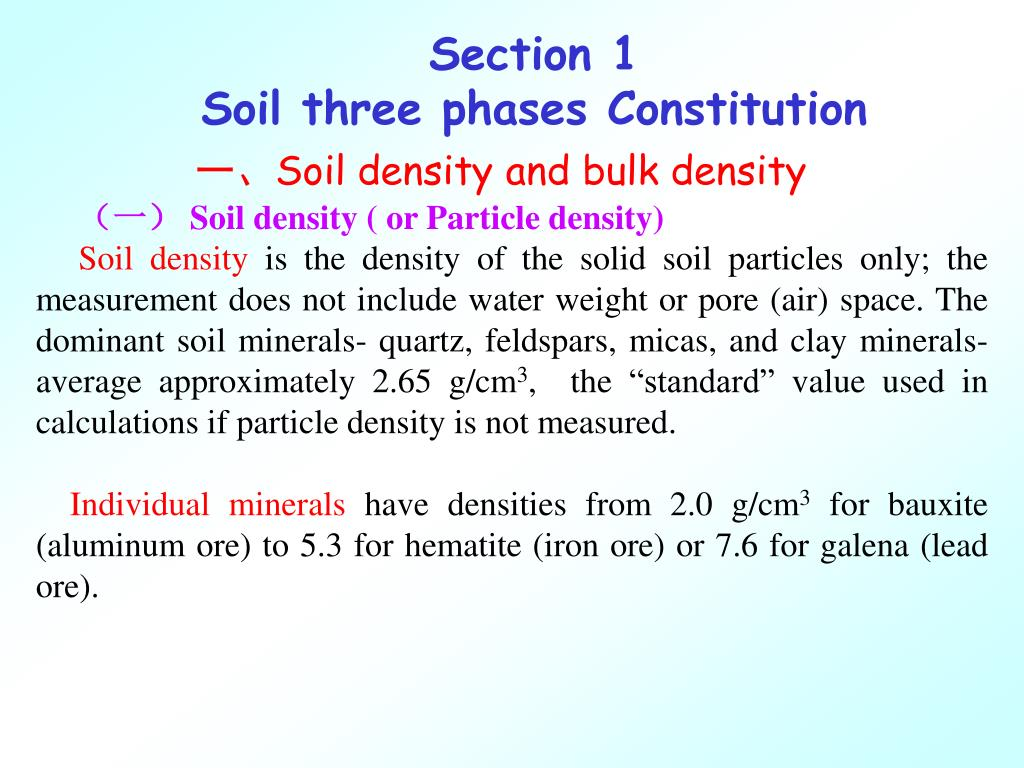 Ppt chapter 4 soil texture and structure powerpoint for Soil bulk density