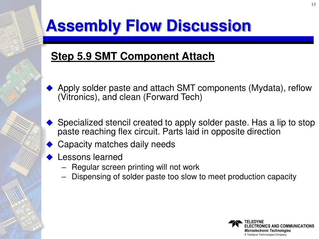 Assembly Flow Discussion