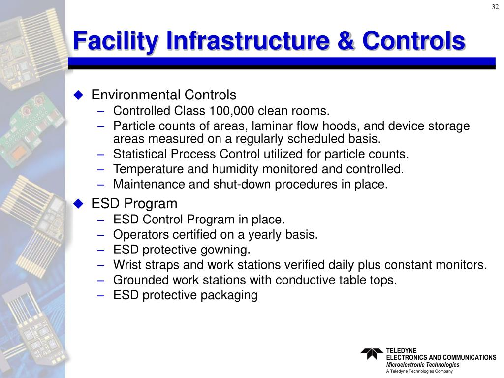 Facility Infrastructure & Controls