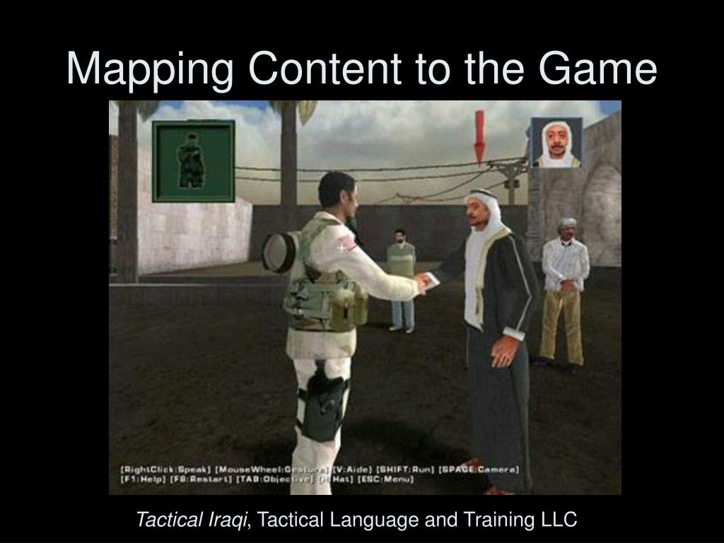 Mapping Content to the Game