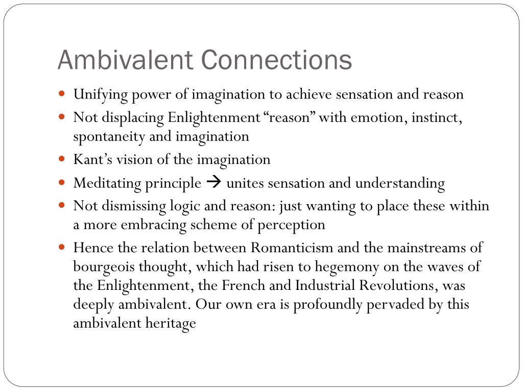 Ambivalent Connections