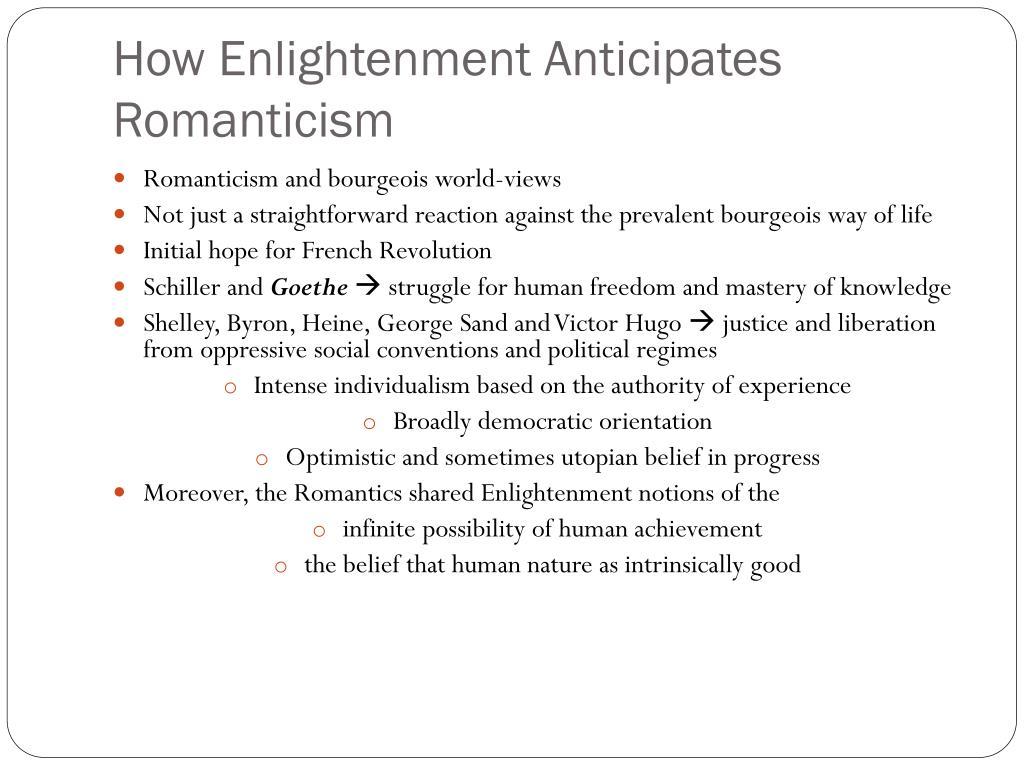 How Enlightenment Anticipates Romanticism