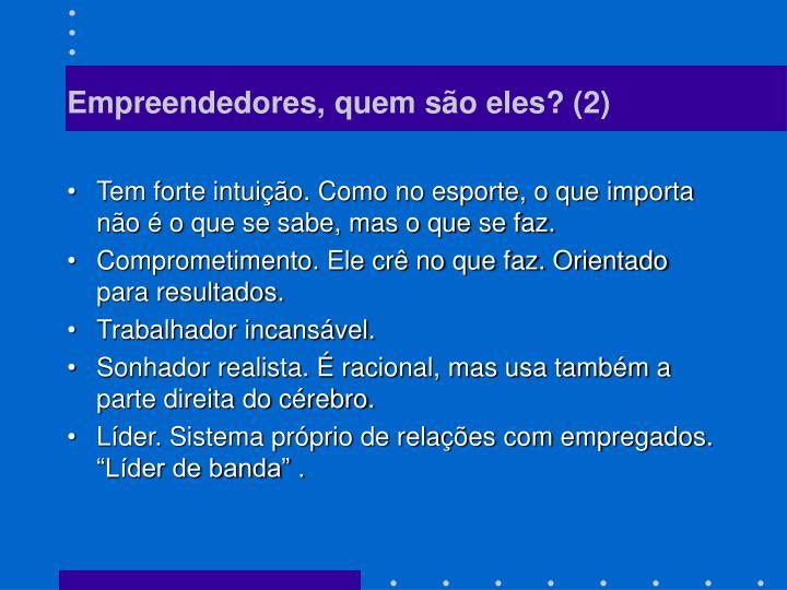 Empreendedores, quem são eles? (2)