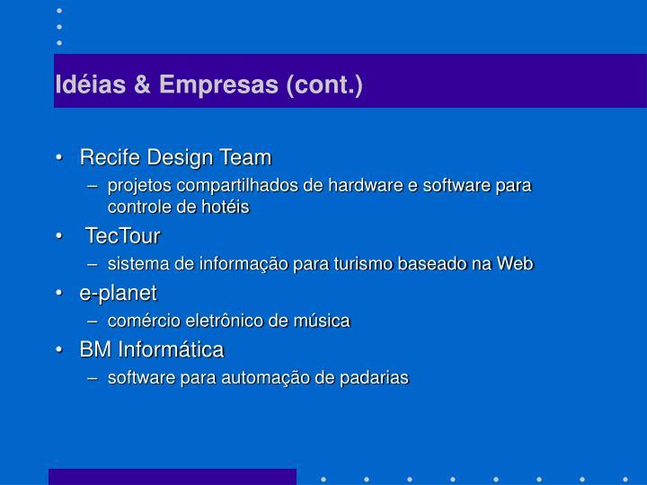 Idéias & Empresas (cont.)