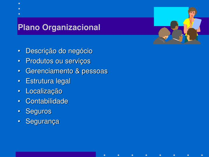 Plano Organizacional