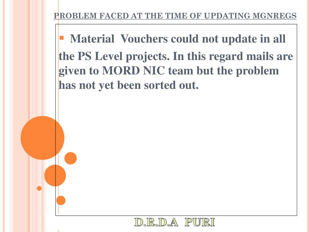 PROBLEM FACED AT THE TIME OF UPDATING MGNREGS