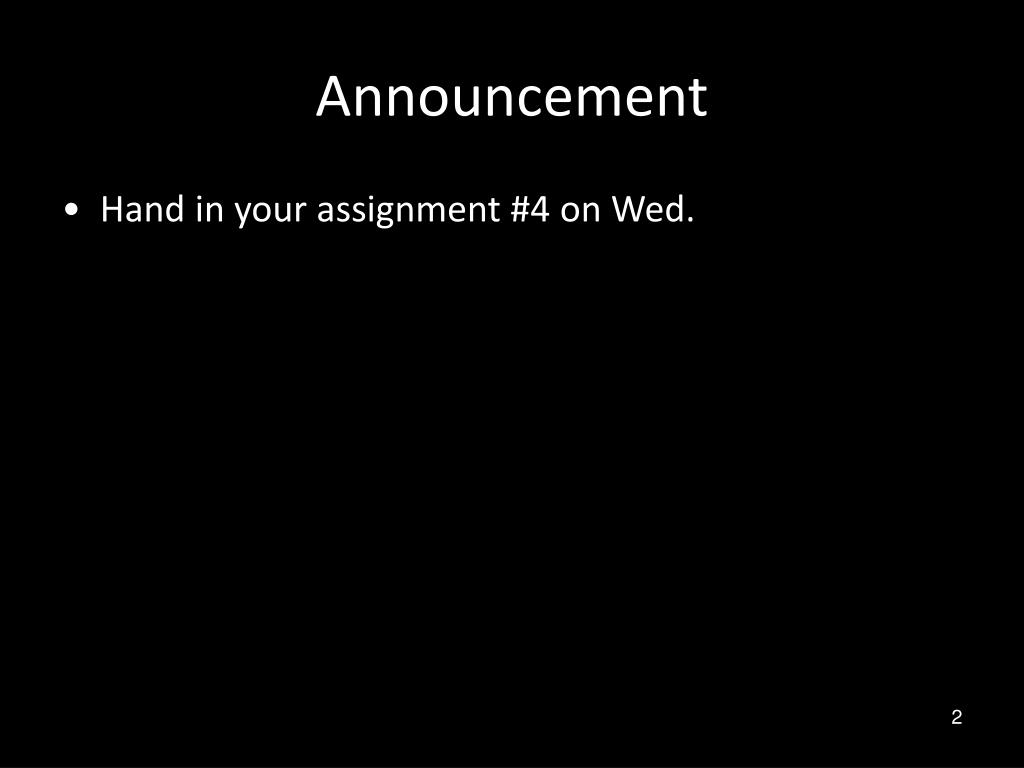 Announcement