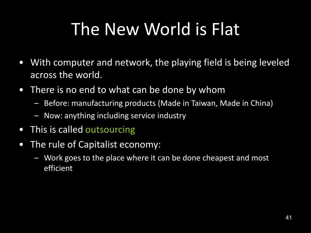 The New World is Flat