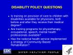 disability policy questions18