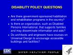 disability policy questions19